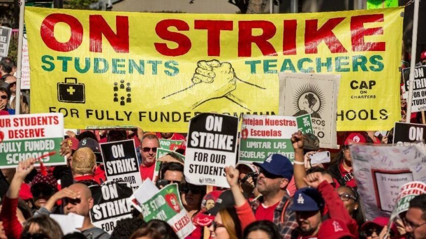 Los Angeles teachers reach tentative strike settlement