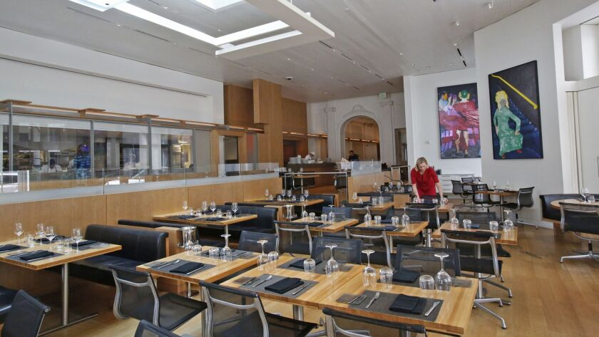 LOS ANGELES, CA. - SEPTEMBER 11, 2015: The dining room in CUT by Wolfgang Puck is reviewed for Gold