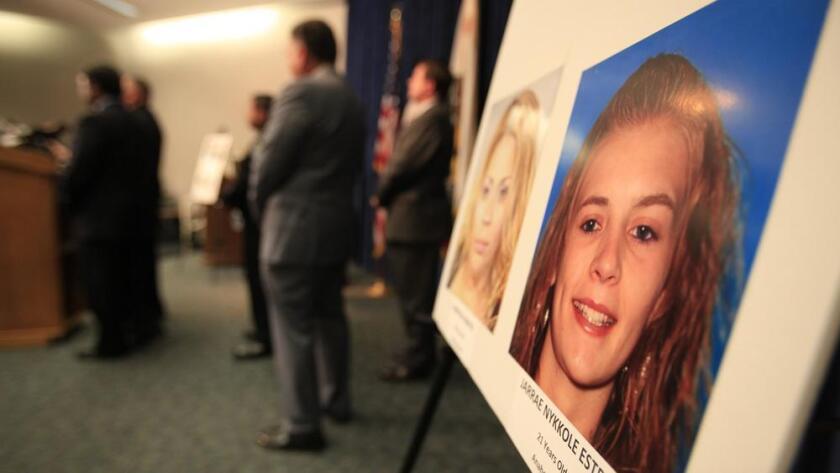 Foto de Jarrae Nykkole Estepp, de 21 años de edad, es mostrada a los medios por la policía de Anaheim en el 2014.