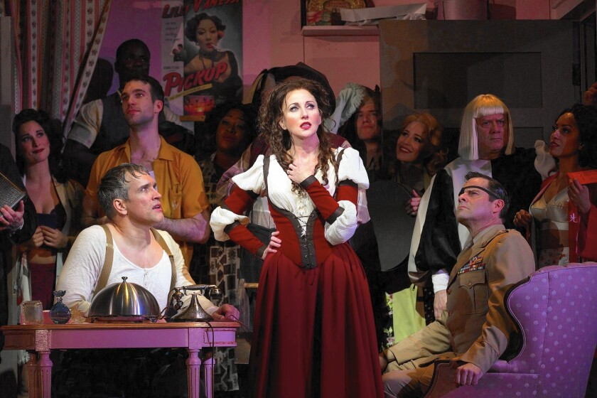 Review: Old Globe's 'Kiss Me, Kate' steals a smile if not a heart