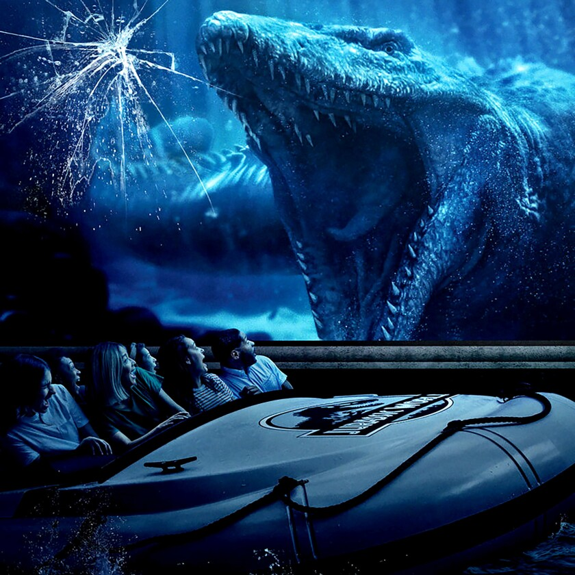 What's it like to ride the new Jurassic World ride at Universal Studios?