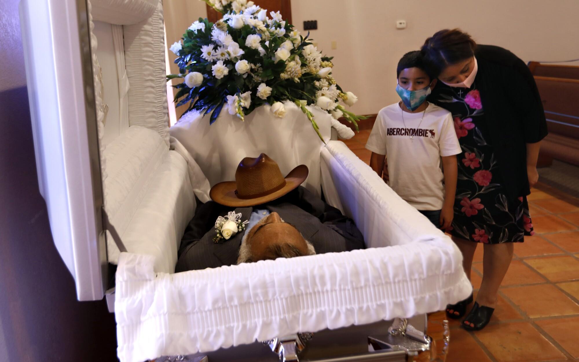 A funeral in McAllen, Texas