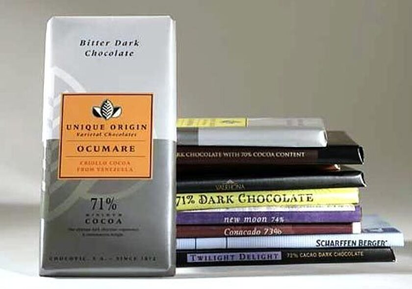 """GOOD DEAL: Chocovic """"Ocumare,"""" front, was a favorite."""
