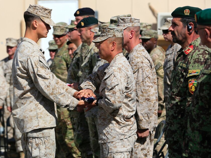 Marines withdrawal from Camp Leatherneck