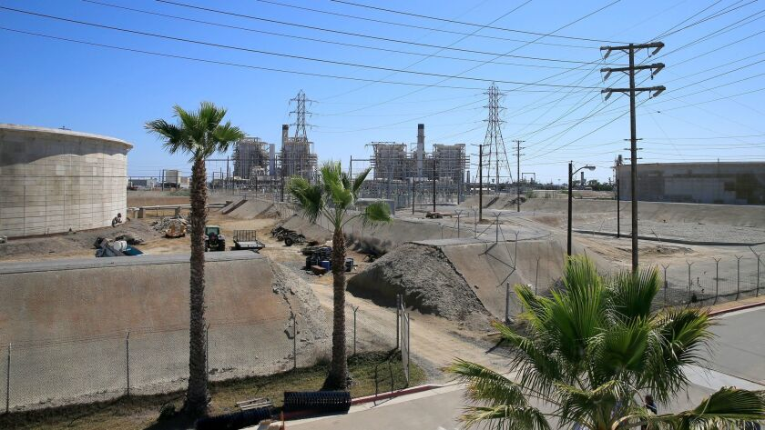 The site of the proposed Poseidon desalinization project, which will be located next to the AES Huntington Beach Generating Station.