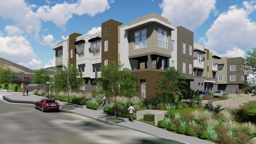Check-in starts at 10 a.m. Aug. 11 for the grand-opening festivities at Prato at San Elijo Hills Town Center, with 12 ultra-modern three-story townhomes.