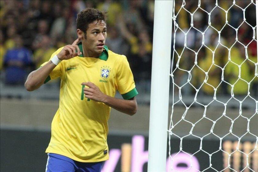 Neymar, delantero del Santos. EFE/Archivo