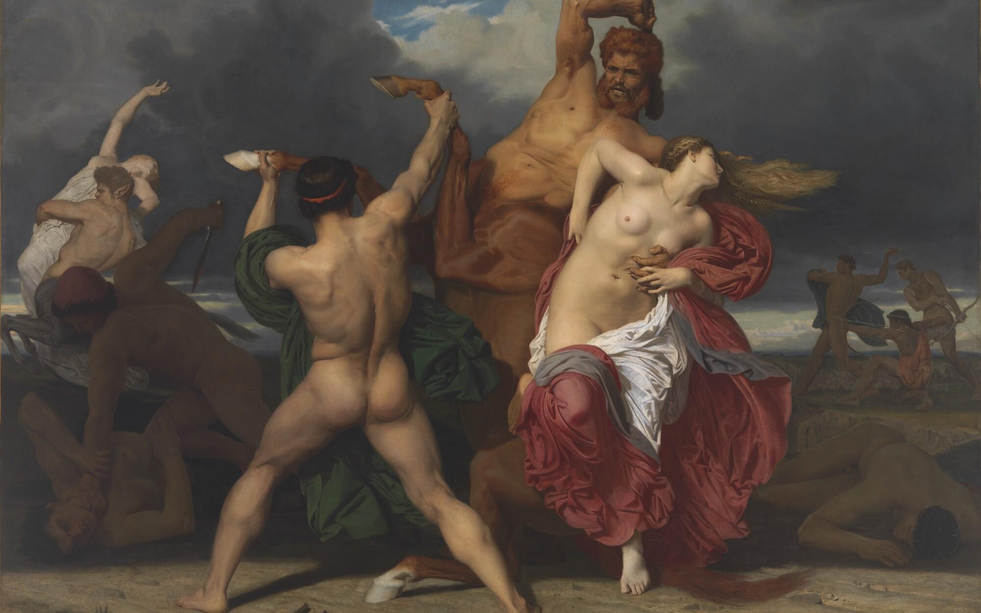 "William-Adolphe Bouguereau: ""Battle of the Centaurs and the Lapithae"" (Bataille des Centaures contre les Lapithes), 1852"