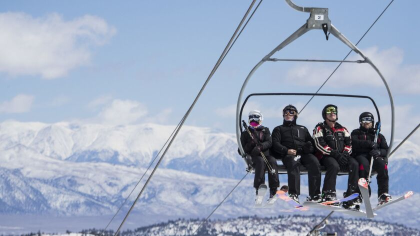 Skiers can ride the lift to a Mammoth-to-Tamarack tour, or hoof it up the hill themselves, under new options at the Sierra resort.