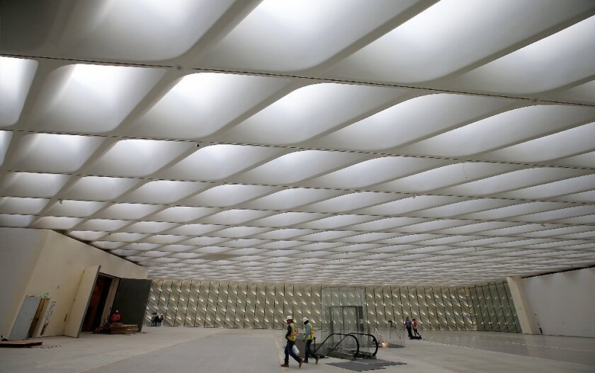 Third-floor gallery space at the Broad museum