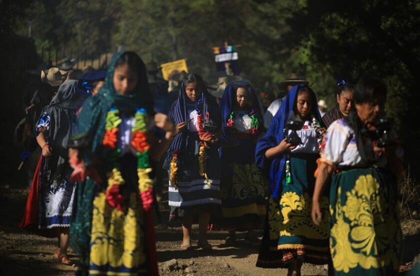 Fotografía donde se muestran indígenas del estado de Michoacán (México). EFE/Archivo