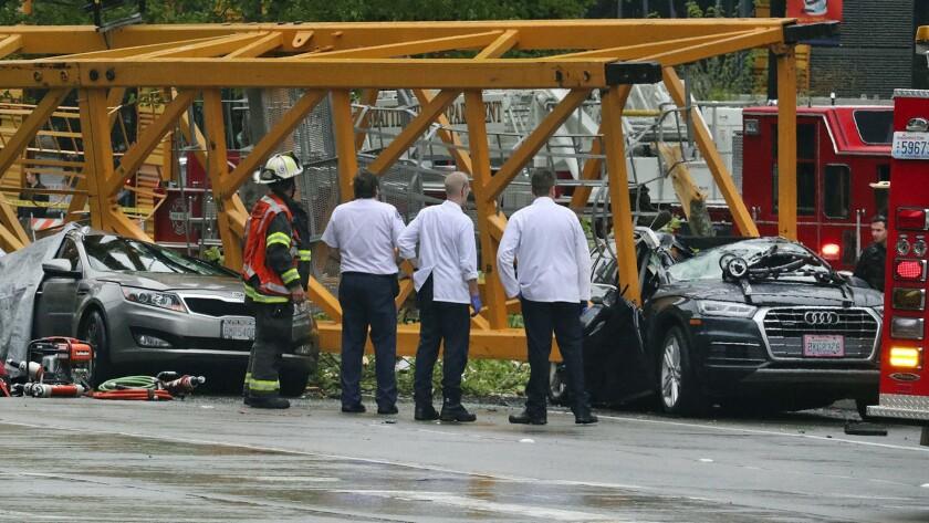 Fallen crane kills four in South Lake Union: 'It was terrifying'