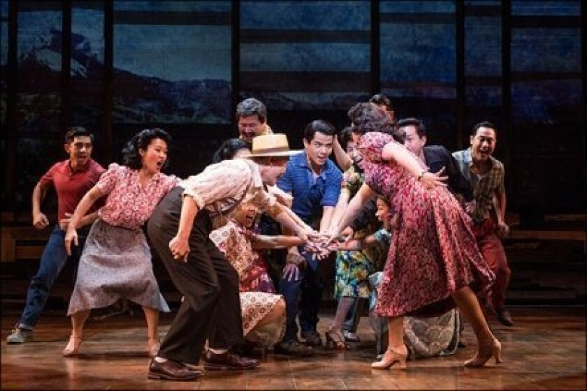 "A scene from ""Allegiance"" on Broadway."