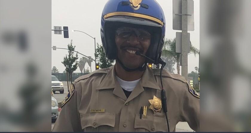 Andre Moye Jr., oficial de la Patrulla de Caminos de California (CHP), fue asesinado en Riverside.