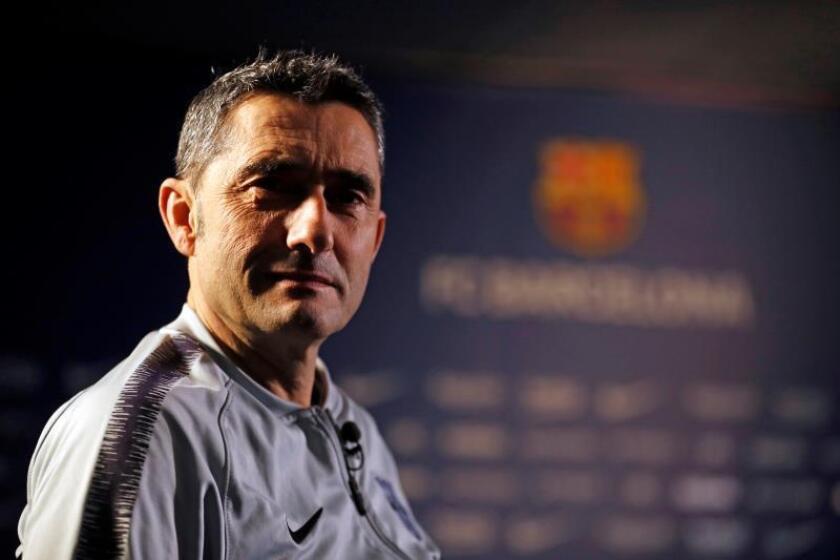 Fotografía facilitada por el FC Barcelona, de su técnico Ernesto Valverde. EFE