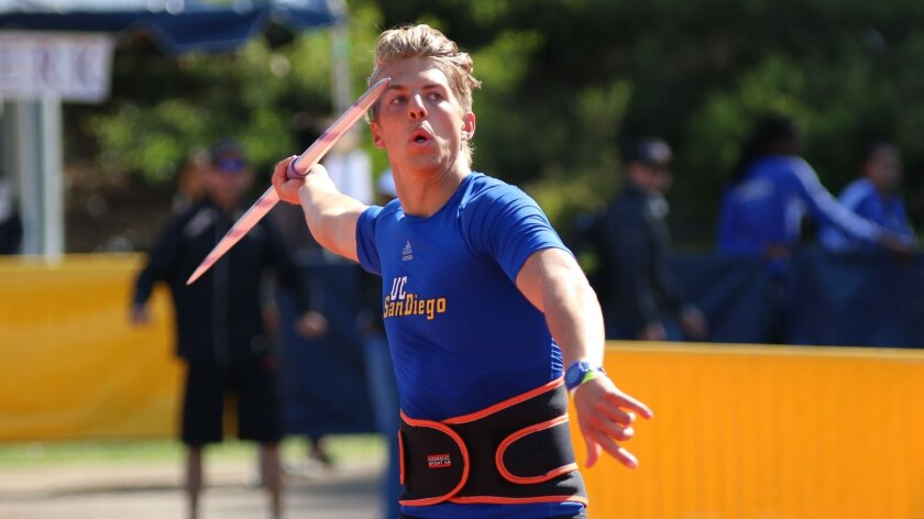 UCSD junior Nash Howe comes from a family of javelin throwers. He's hoping to break UCSD's javelin record this weekend. The current record holder? His brother.