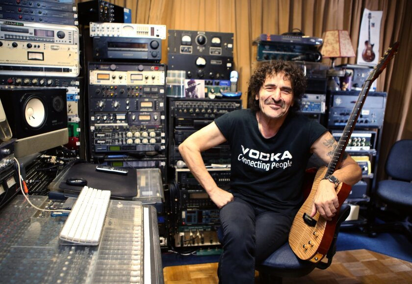 Guitarist and singer Valery Saifudinov grew up in the Soviet Union and has a recording studio in Escondido. He is credited with having what's believed to be the first rock and roll band in the Soviet Union, and he'll be among the people featured in a documentary called Rocking the Kremlin. Photo by Don Boomer