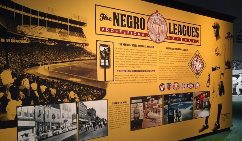 Among the interesting exhibits at the All-Star FanFest is one on the Negro Leagues Baseball Museum, which tells the history of the leagues that were in operation from 1920-60.