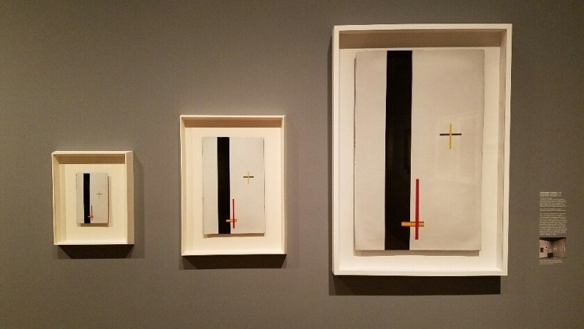 """Laszlo Moholy-Nagy's so-called """"telephone paintings,"""" industrially manufactured in 1923, were ordered in baked enamel on copper in small, medium and large."""