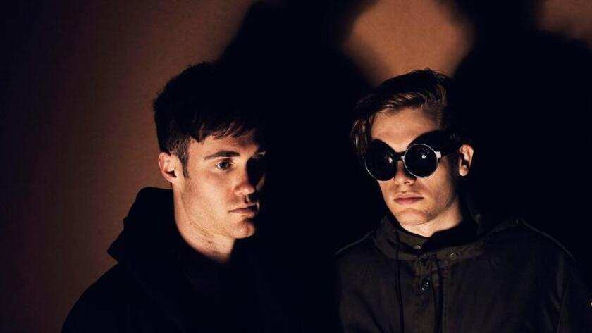 Bob Moses, comprising the duo Tom Howie (left) and Jimmy Vallance, plays at Music Box on Nov. 3. (Tim Saccenti)