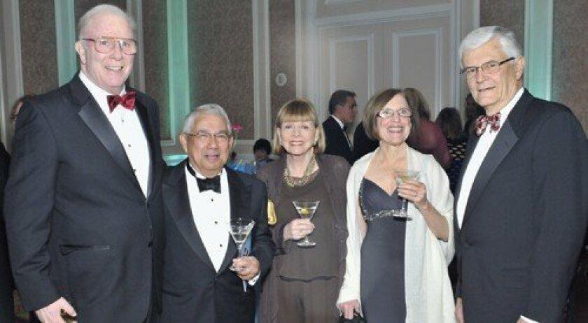 Tom Dillon, Maurice and Joan Sabado, Dale Novina, Sulpizio Cardiovascular Center Director Dr. Kirk Peterson