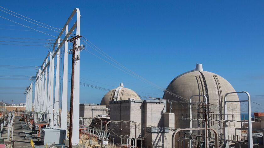 Some 3.6 pounds of spent nuclear fuel sit at the San Onofre Nuclear Generating Station.