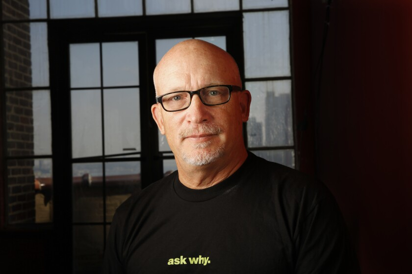 Documentary film director Alex Gibney at his Manhattan headquarters on July 21.