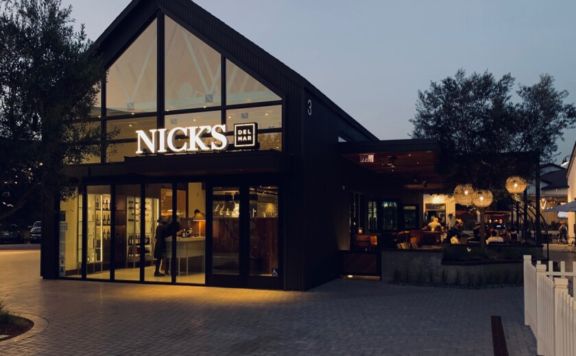 Nicks Del Mar is now open in One Paseo.