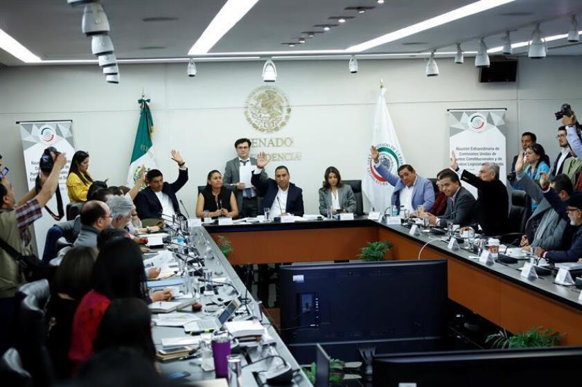 La mayoría en el Senado Mexicano aprobó este lunes sin la participación de la oposición, el dictamen de la Guardia Nacional bajo control militar, que será llevada al pleno para su votación en las próximas sesiones. EFE
