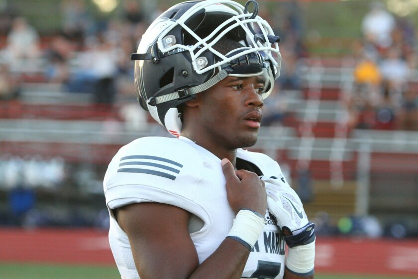 San Marcos senior Terrell Burgess has 56 receptions for 1,087 yards and 16 touchdowns this season.