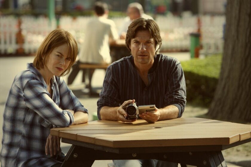 """Nicole Kidman as Annie Fang and Jason Bateman as Baxter Fang in the movie """"The Family Fang."""""""