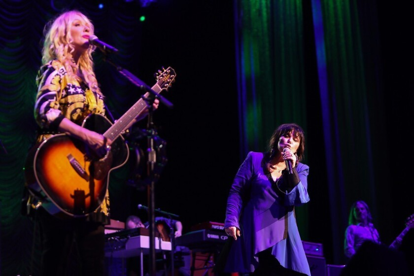 Nancy (left) and Ann Wilson of Heart. The band was inducted into the Rock and Roll Hall of Fame in 2013 and is now back on tour for the first time in three years.