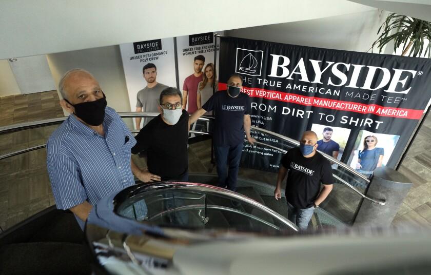 Brothers Mohamed Dadabhoy, left, Abdul Rashid Dadabhoy, Taher Dadabhoy and Shoaib Dadabhoy are owners of AST Sportswear.