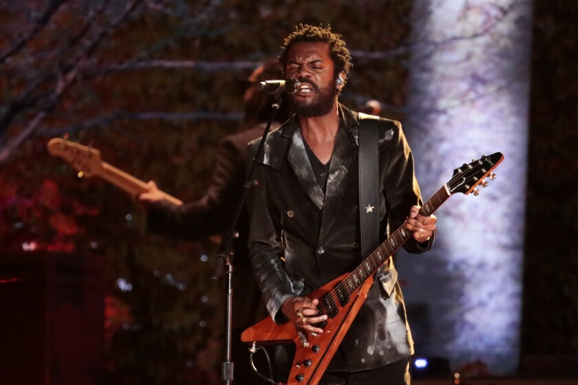 Gary Clark Jr. is shown at the 2020 edition of the Grammy Awards in Los Angeles.