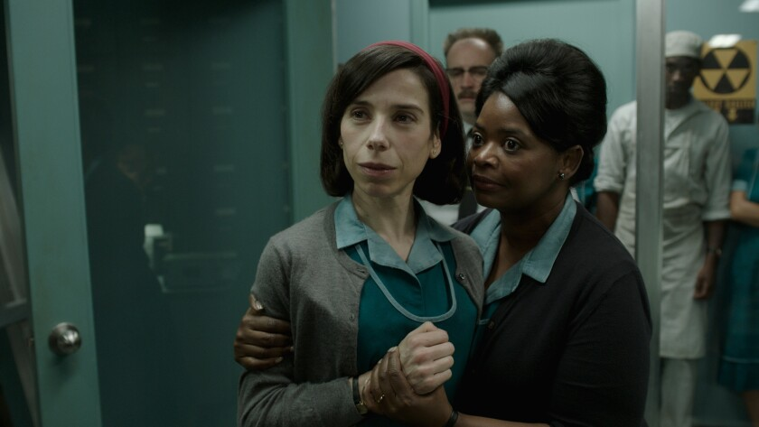 "Sally Hawkins, left, and Octavia Spencer star in Guillermo del Toro's ""The Shape of Water."""