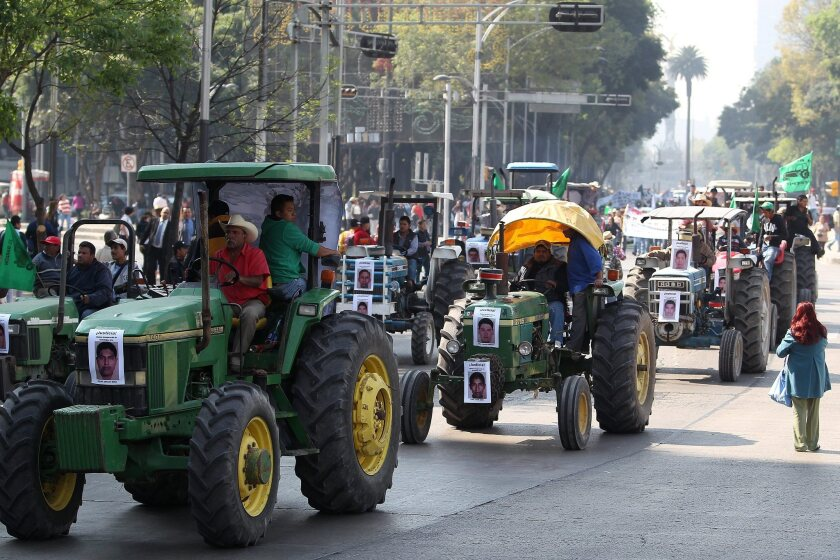Farmers in Mexico protest for missing students