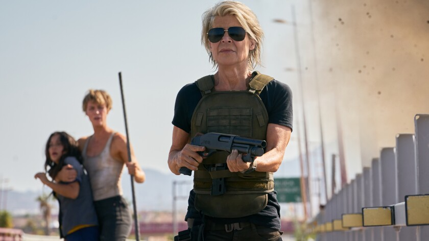 "Linda Hamilton in ""Terminator: Dark Fate"""