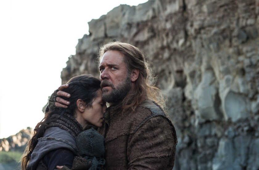 """Jennifer Connelly and Russell Crowe in a scene from """"Noah."""""""