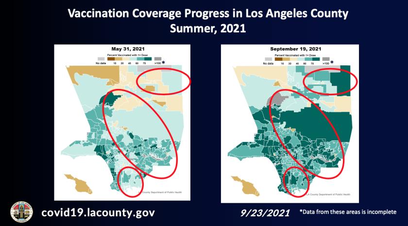 Fortschritte bei der Impfung in LA County