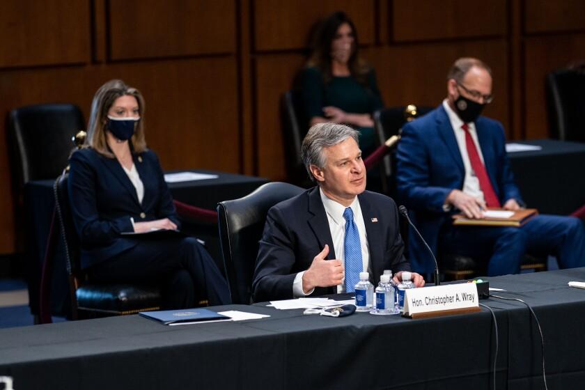 FBI Director Christopher A. Wray testifies