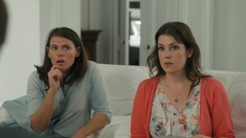 """Clea DuVall, left, and Melanie Lynskey costar in DuVall's feature directing debut """"The Intervention."""""""