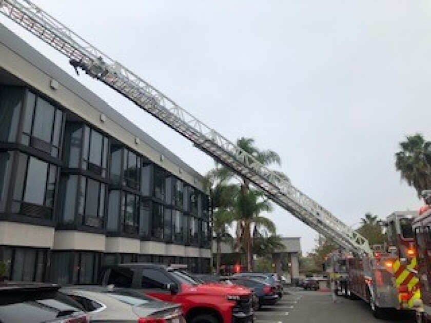 Costa Mesa Fire and Rescue members responded Sunday morning to a report of a fire at the Crowne Plaza Hotel in Costa Mesa.
