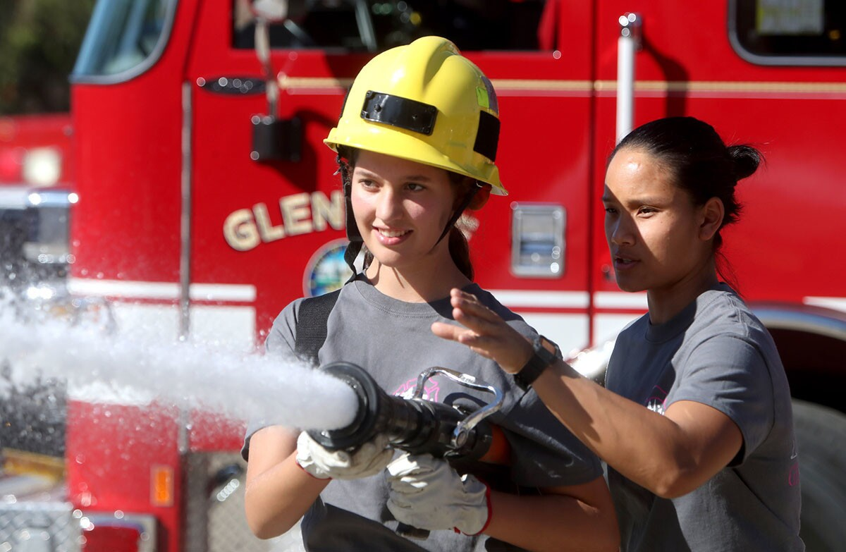 Photo Gallery: Glendale Fire Dept, first ever Girls Camp includes all