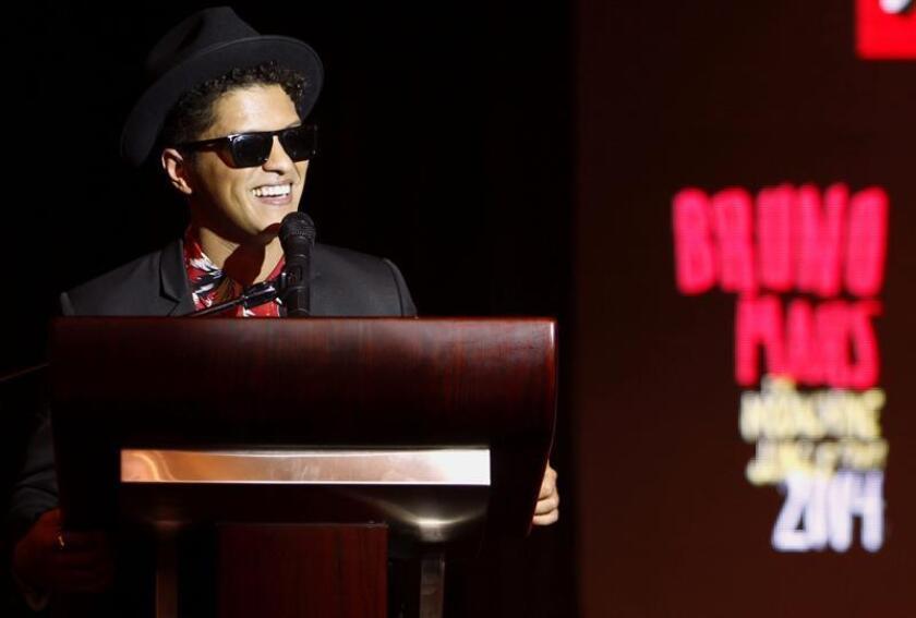 Imagen de archivo del cantante, compositor y productor musical Bruno Mars. EFE/Archivo