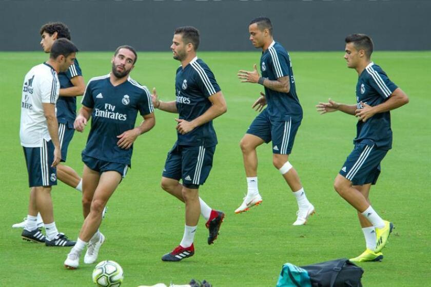 Los jugadores del Real Madrid entrenan en el Hard Rock Stadium de Miami Garden, Florida (EE.UU.). EFE