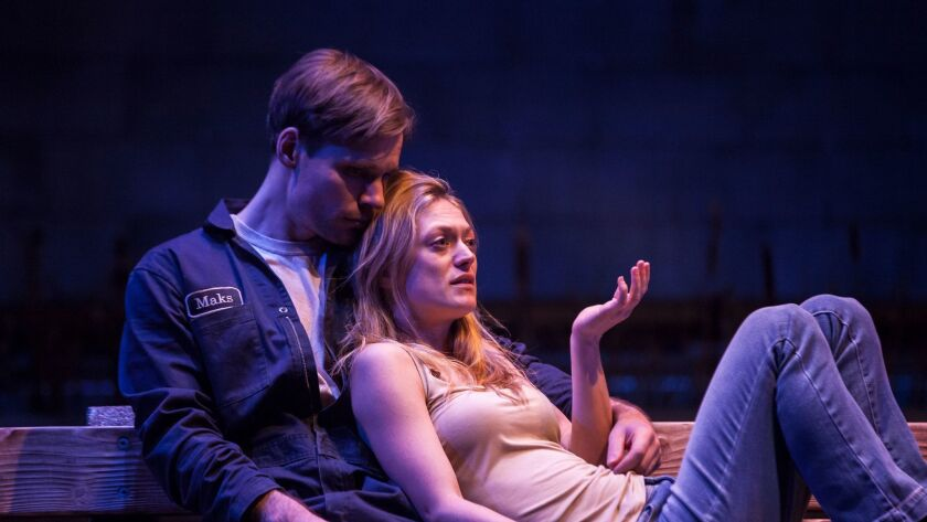 "Marin Ireland and Josiah Bania in ""Ironbound"""