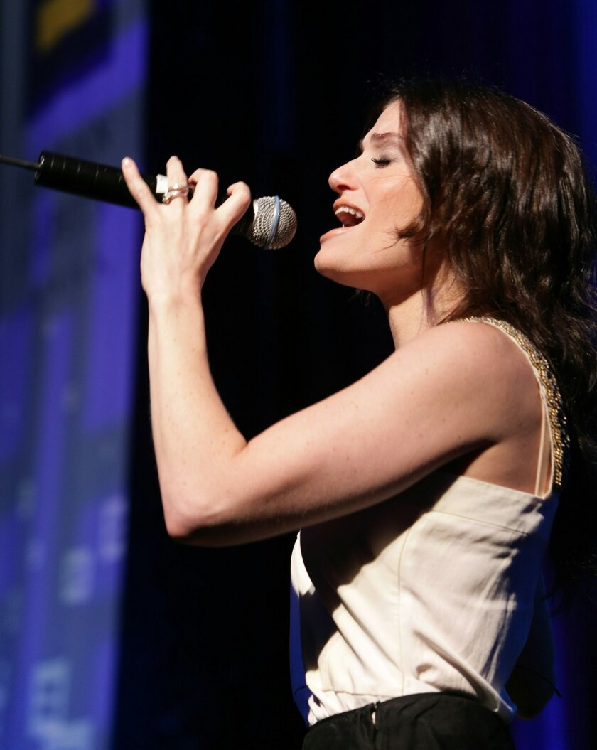 """Idina Menzel was Maureen in the original cast of the rock musical """"Rent,"""" was Elphaba in the mega-hit """"Wicked,"""" and has a recurring role on Fox TV's musical comedy series """"Glee."""" Courtesy"""