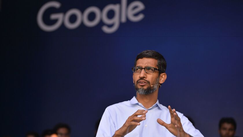 Google Inc. CEO Sundar Pichai spoke out Friday night against President Trump's executive order to ban citizens of seven countries from entering the U.S.