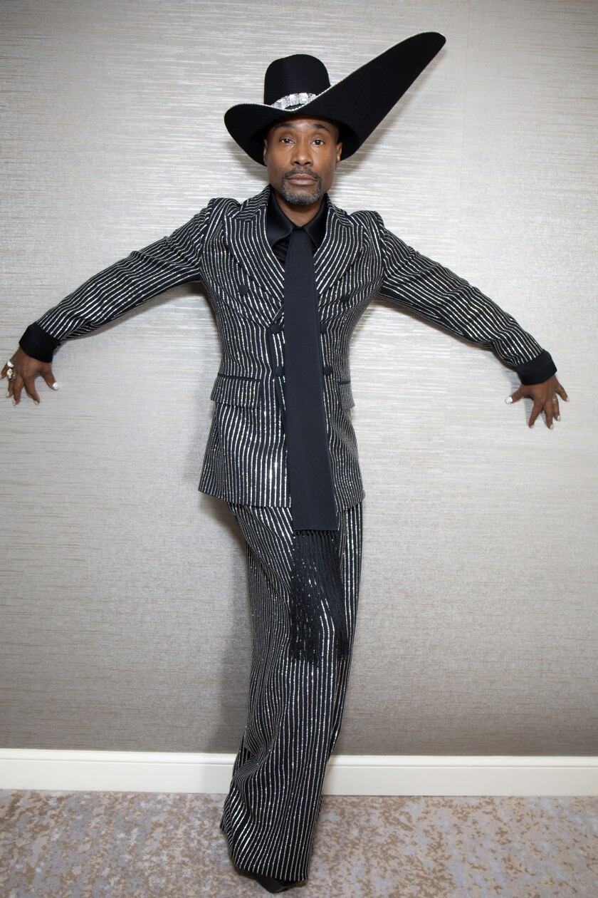 Billy Porter poses before leaving for the 71st Emmy Awards carpet in Los Angeles on Sunday.