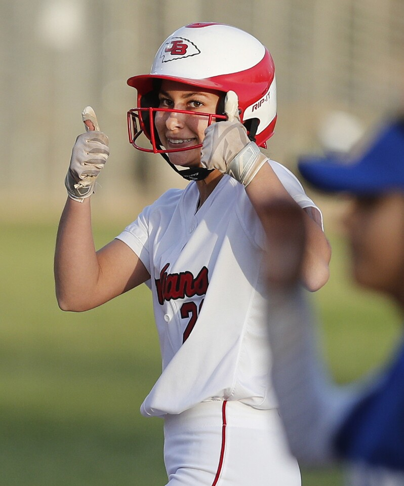 Photo Gallery: Rival Pacific League softball game between Burroughs and Burbank